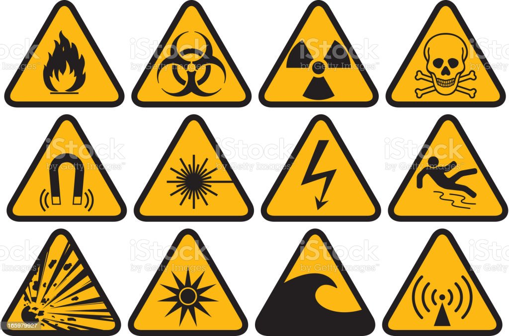 Hazard symbol vector art illustration