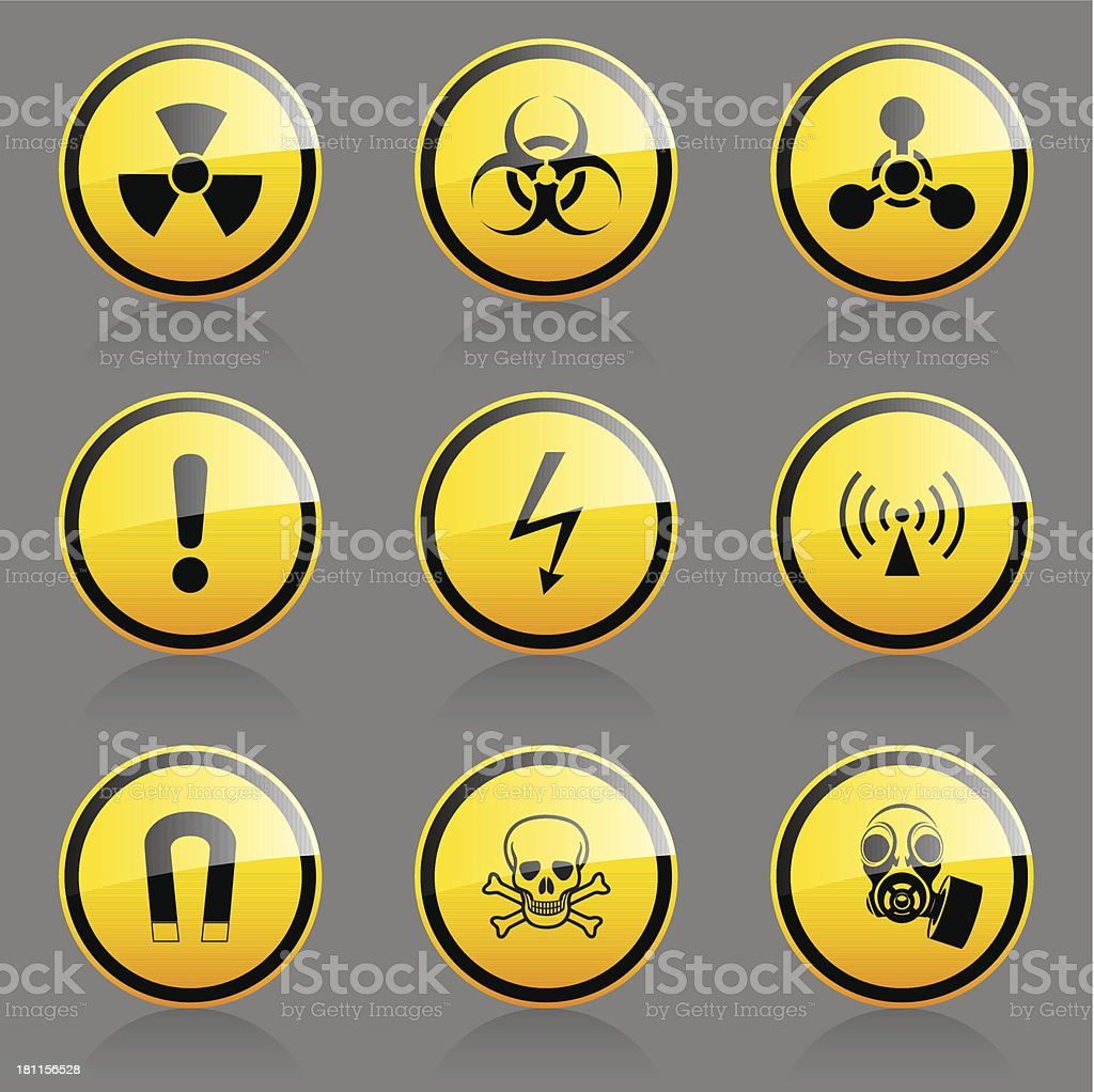 Hazard symbols royalty-free stock vector art