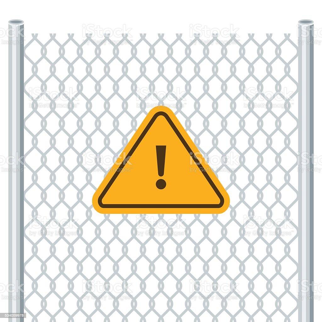 Hazard warning attention sign vector art illustration