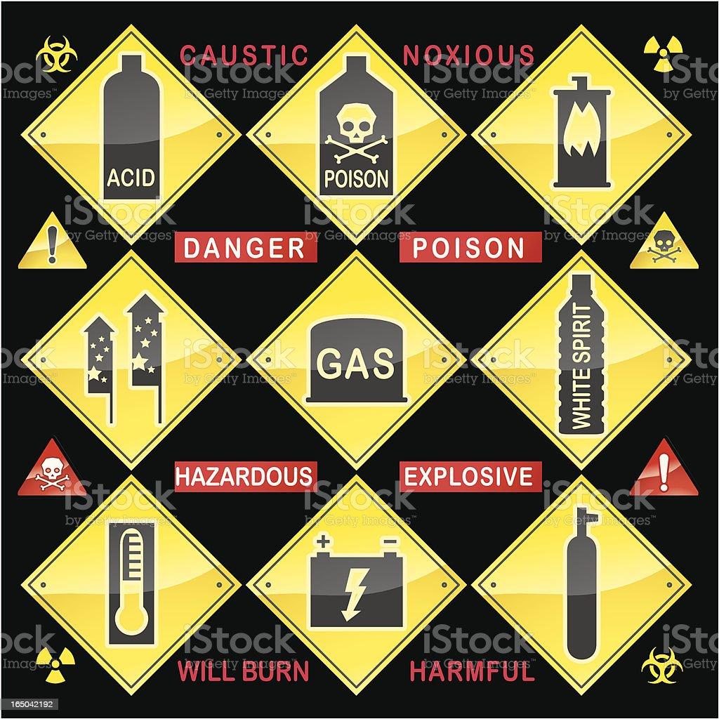 Hazardous Materials Message royalty-free stock vector art