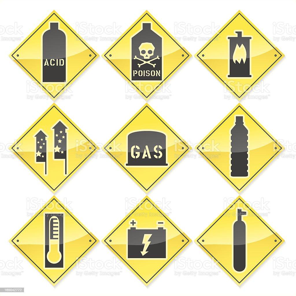Hazardous Materials vector art illustration