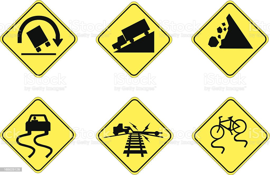 Hazards Ahead vector art illustration