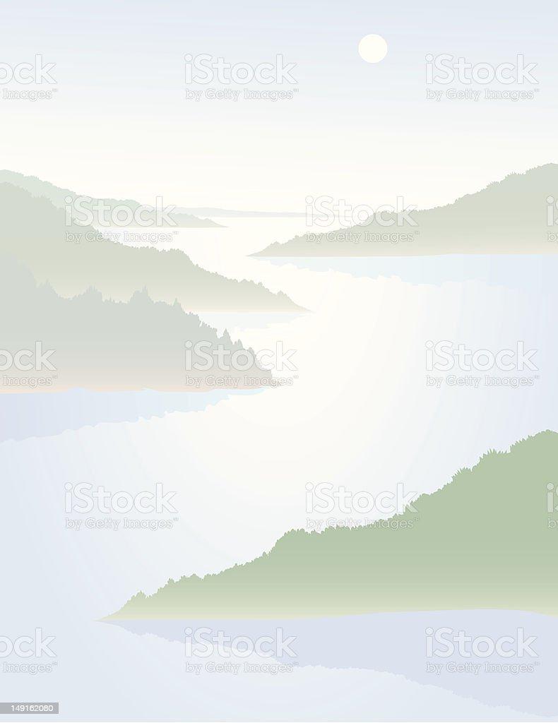 Hazy River royalty-free stock vector art