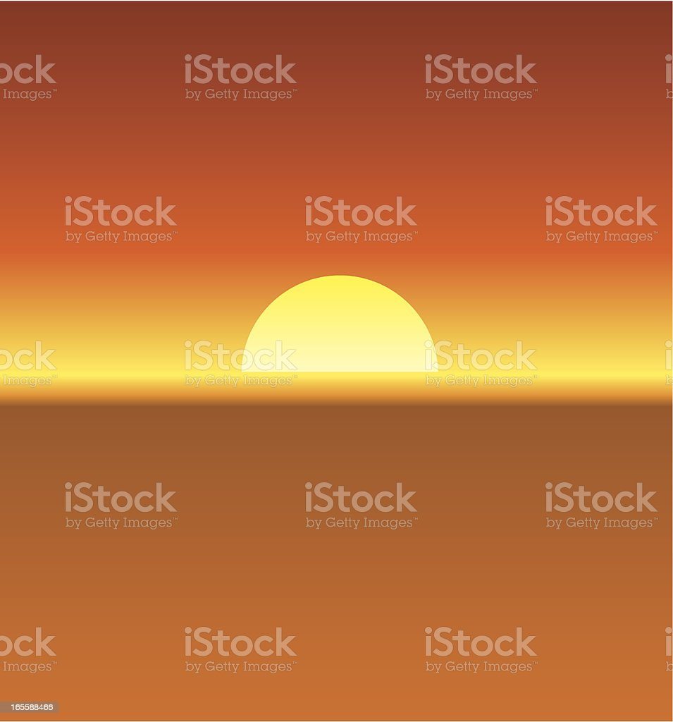 Hazy sun vector art illustration