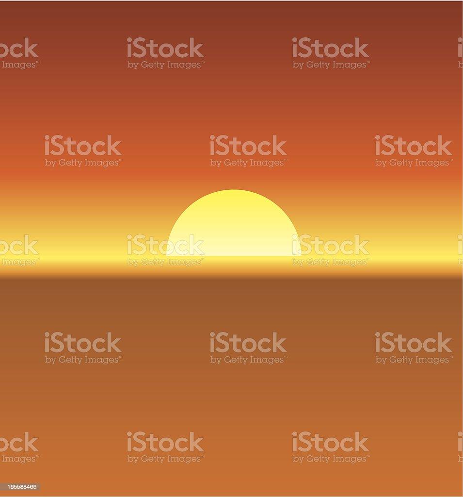 Hazy sun vector art illustration