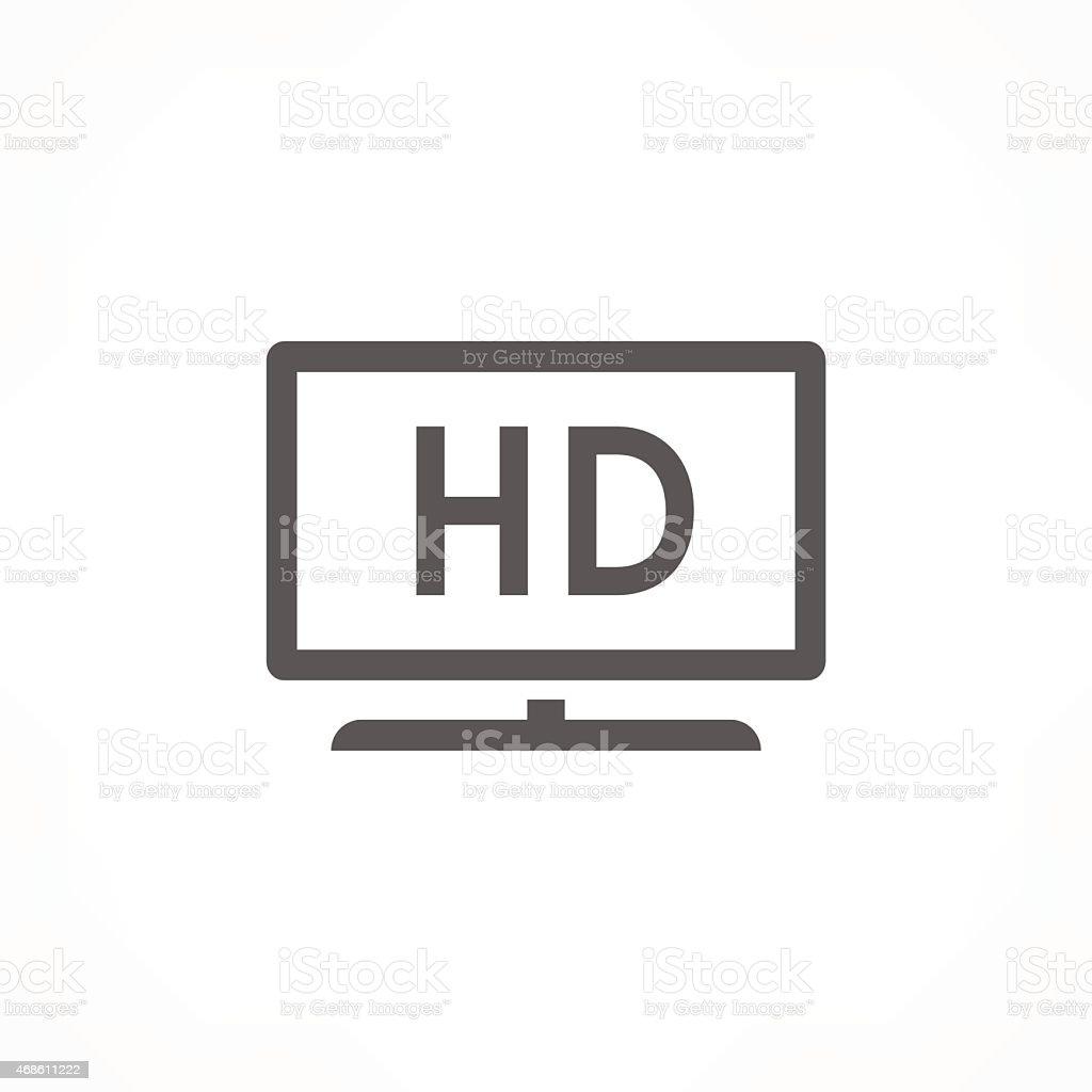 hd tv icon vector art illustration