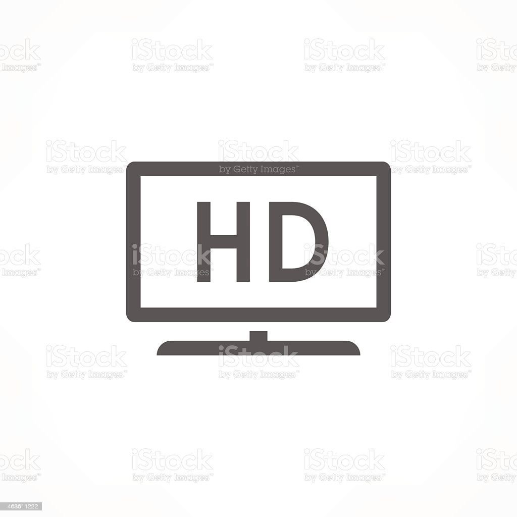 hd tv icon vector art illustration