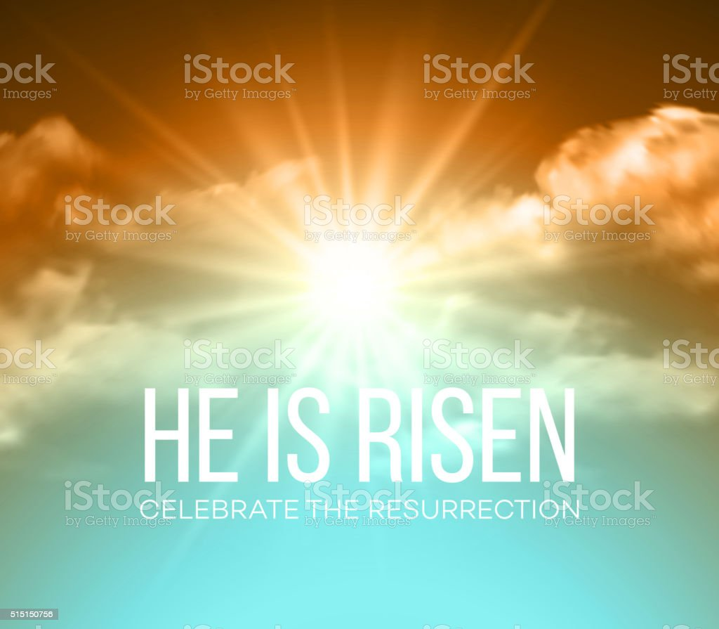 He is risen. Easter background. Vector illustration vector art illustration