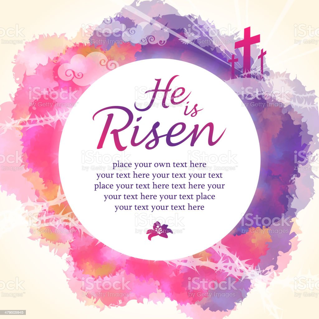 He is Risen vector art illustration