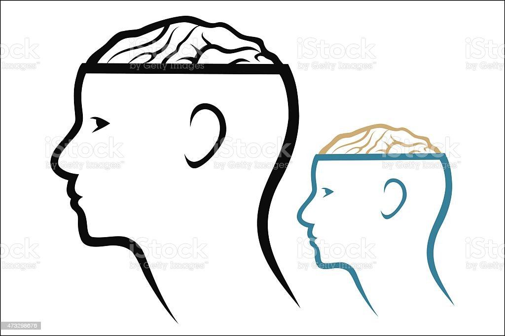 Head and Brain royalty-free stock vector art
