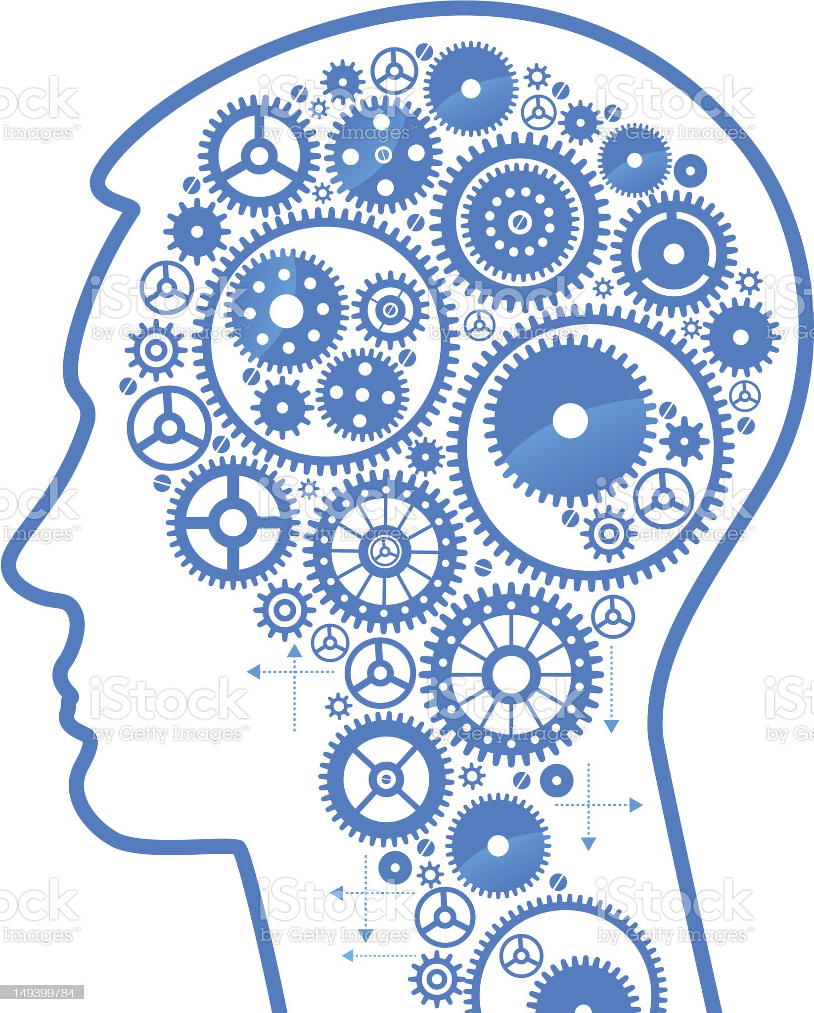 head and gears royalty-free stock vector art