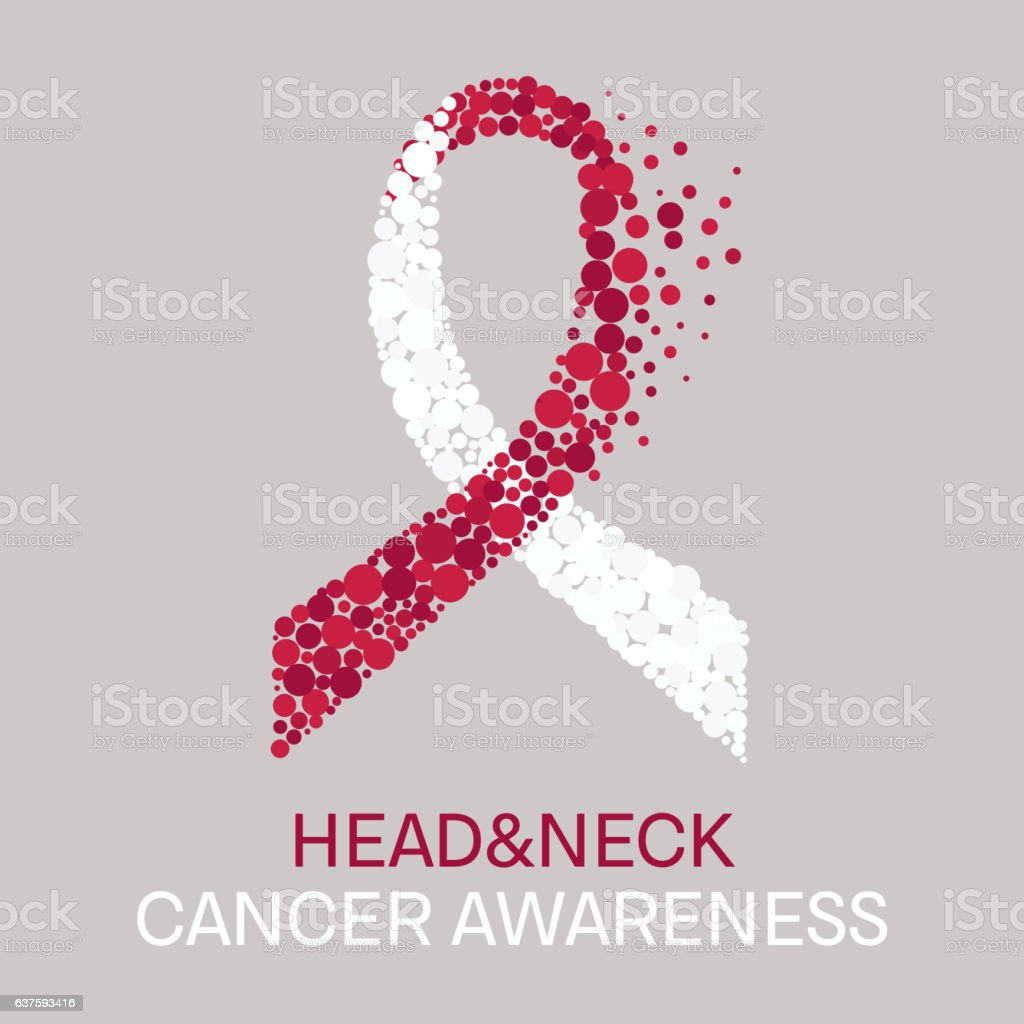 Head and neck cancer poster vector art illustration