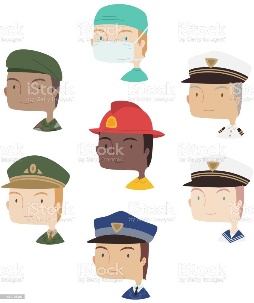 Head and Shoulder Men Man Profile professional avatar 2 royalty-free stock vector art
