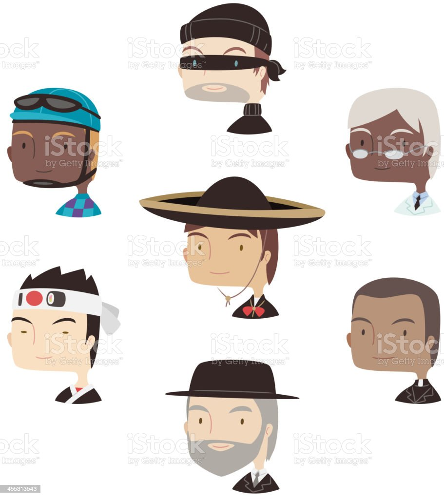 Head and Shoulder Professional Avatar special characters Profile royalty-free stock vector art