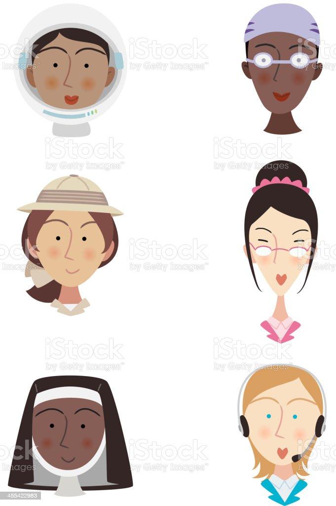 Head and Shoulder professional People Avatar Profile vector art illustration