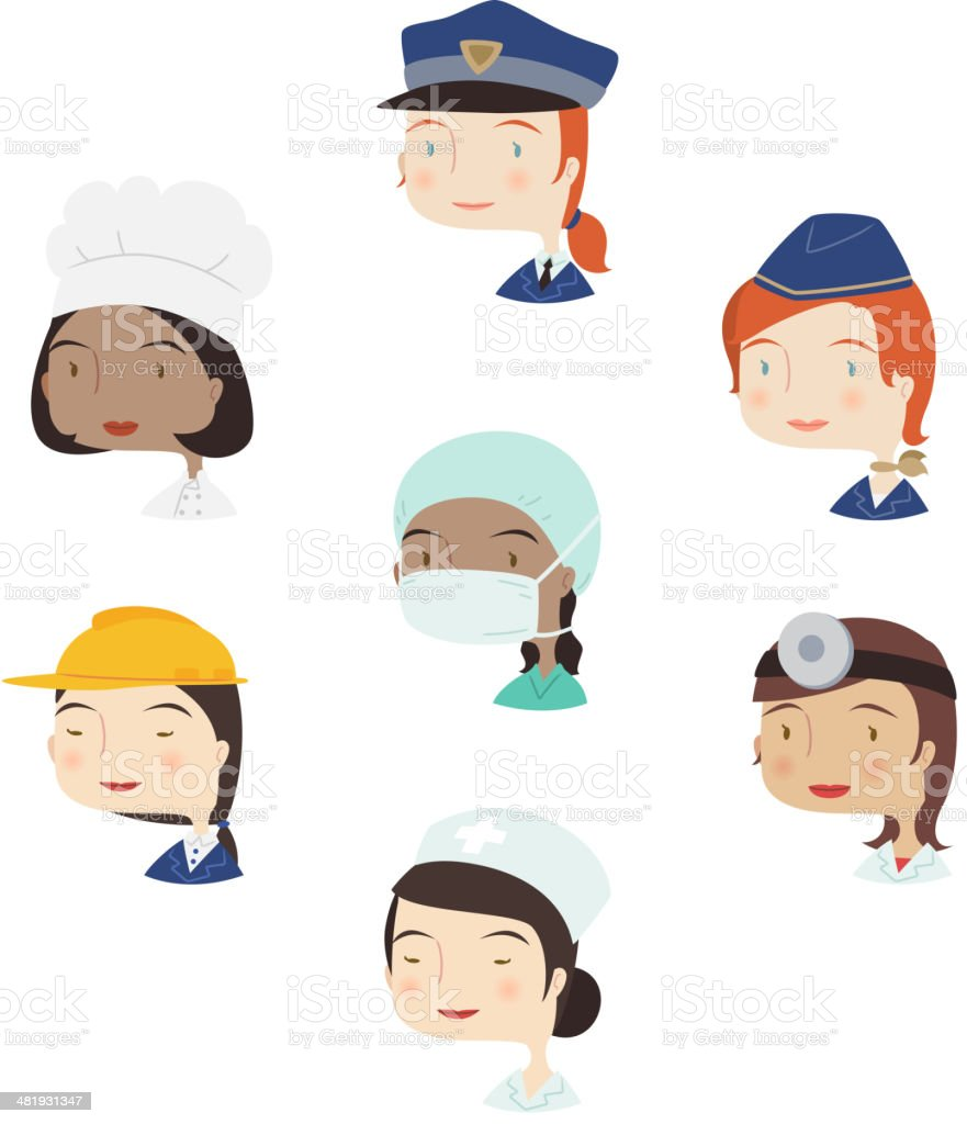 Head and Shoulder Profile professional People Woman Avatar royalty-free stock vector art