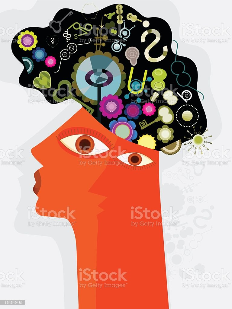 Head and Thoughts royalty-free stock vector art
