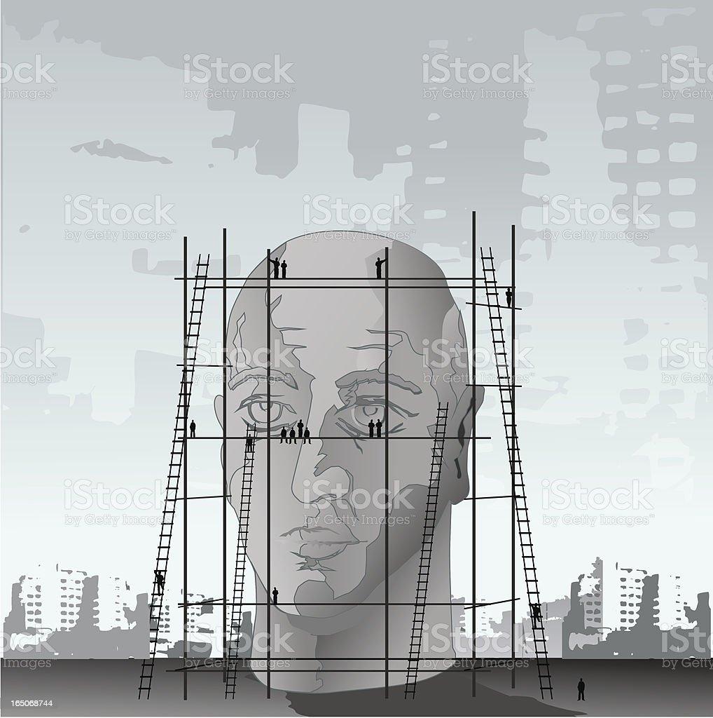head building royalty-free stock vector art