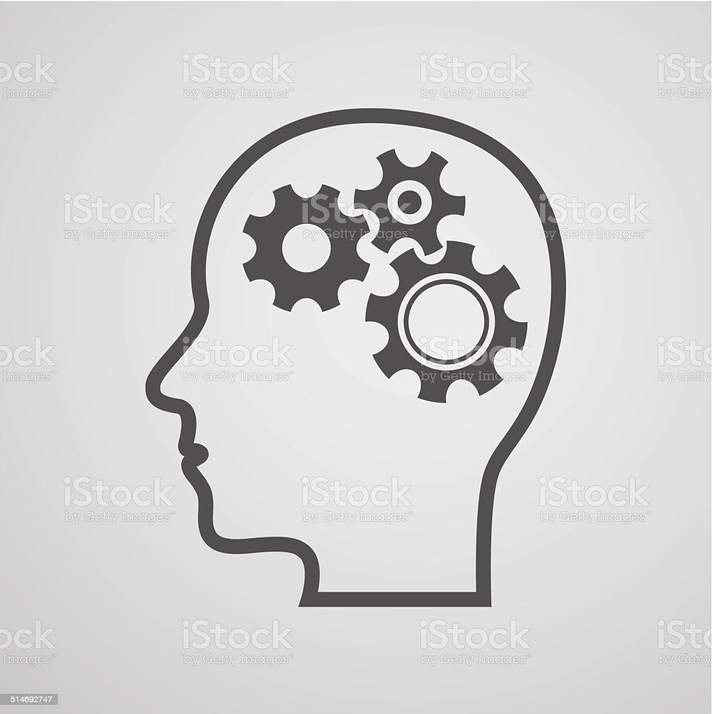 head gear brain background vector art illustration