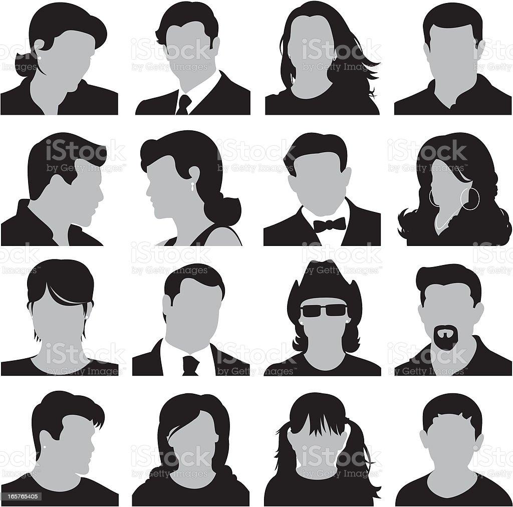 Head Icons royalty-free stock vector art
