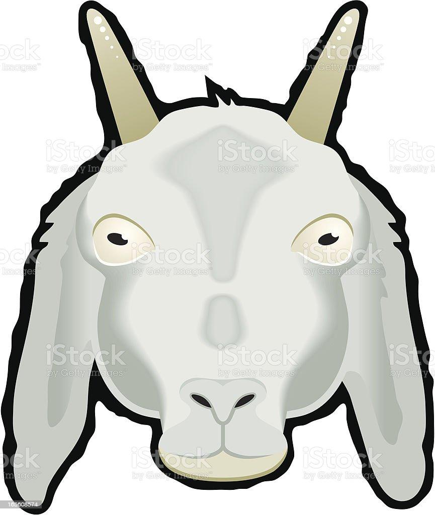Head of a Goat vector art illustration