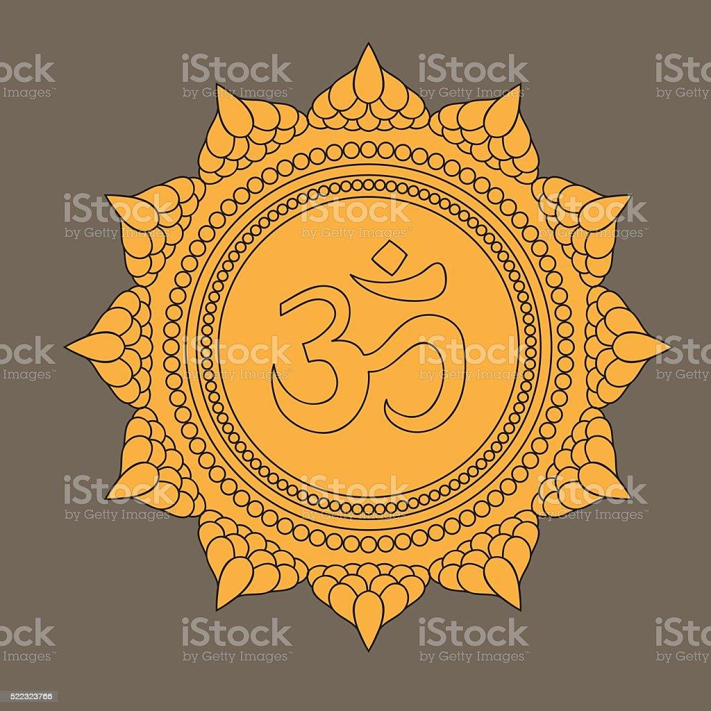 Head of buddha om sign lotus flower indian hindu motifs stock head of buddha om sign lotus flower indian hindu motifs royalty dhlflorist Gallery