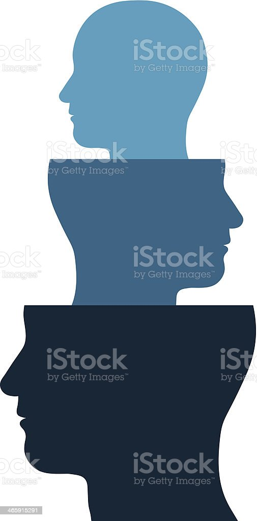 Head out of a head vector art illustration
