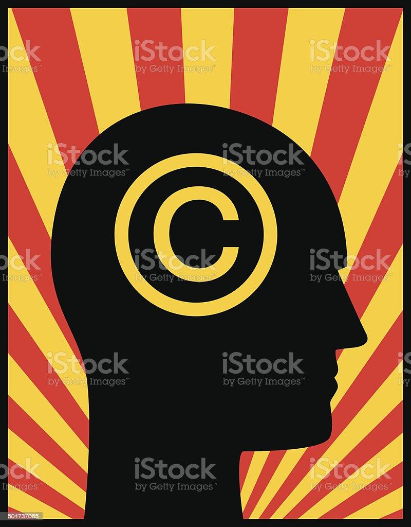 Head Profile Copyright royalty-free stock vector art