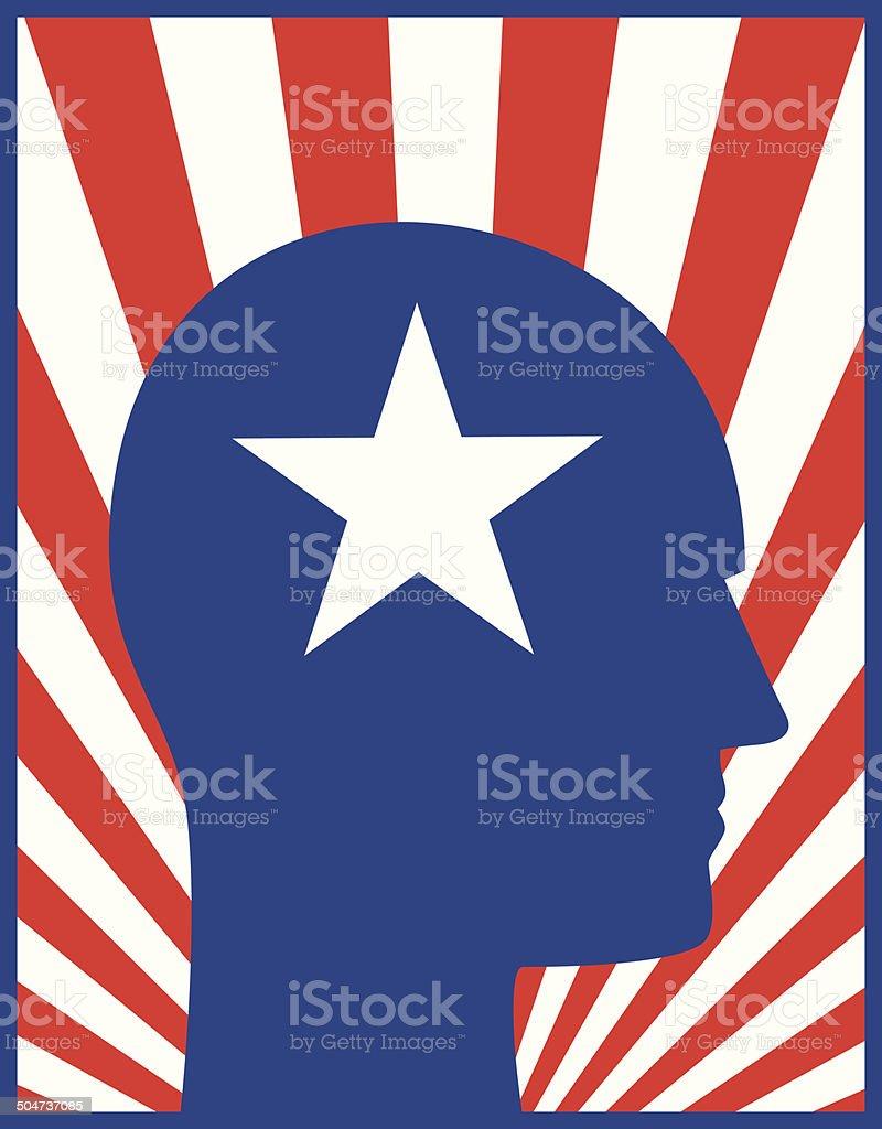 Head Profile Patriotic royalty-free stock vector art