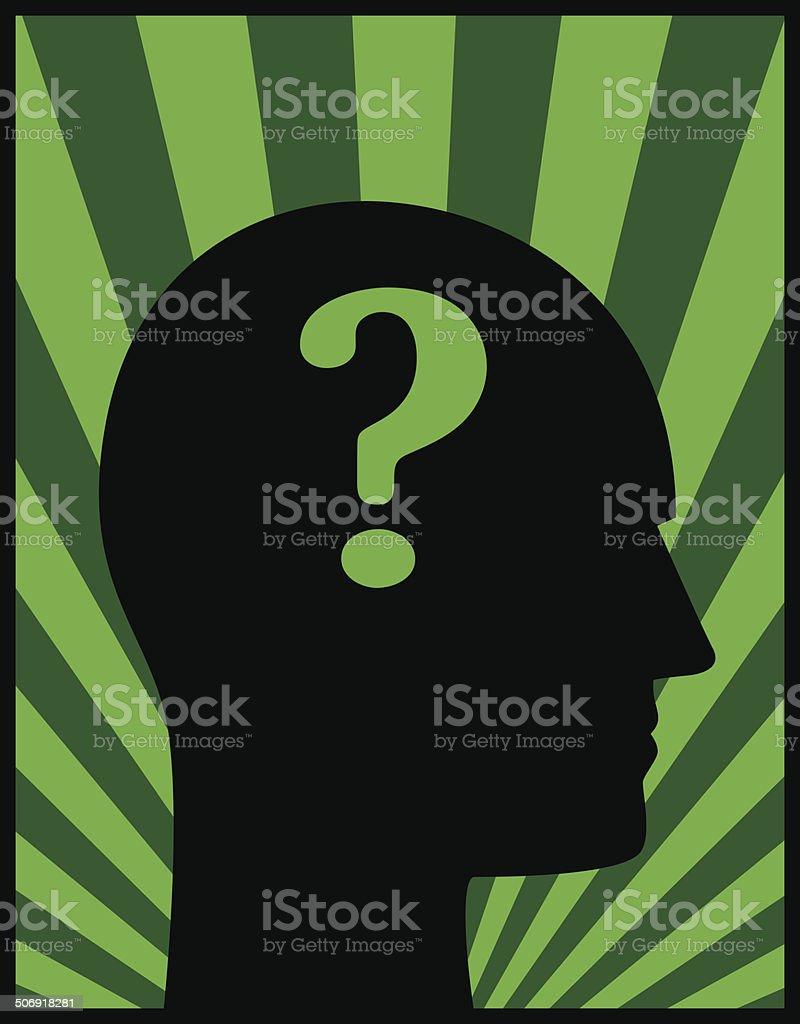 Head Profile Question Mark royalty-free stock vector art