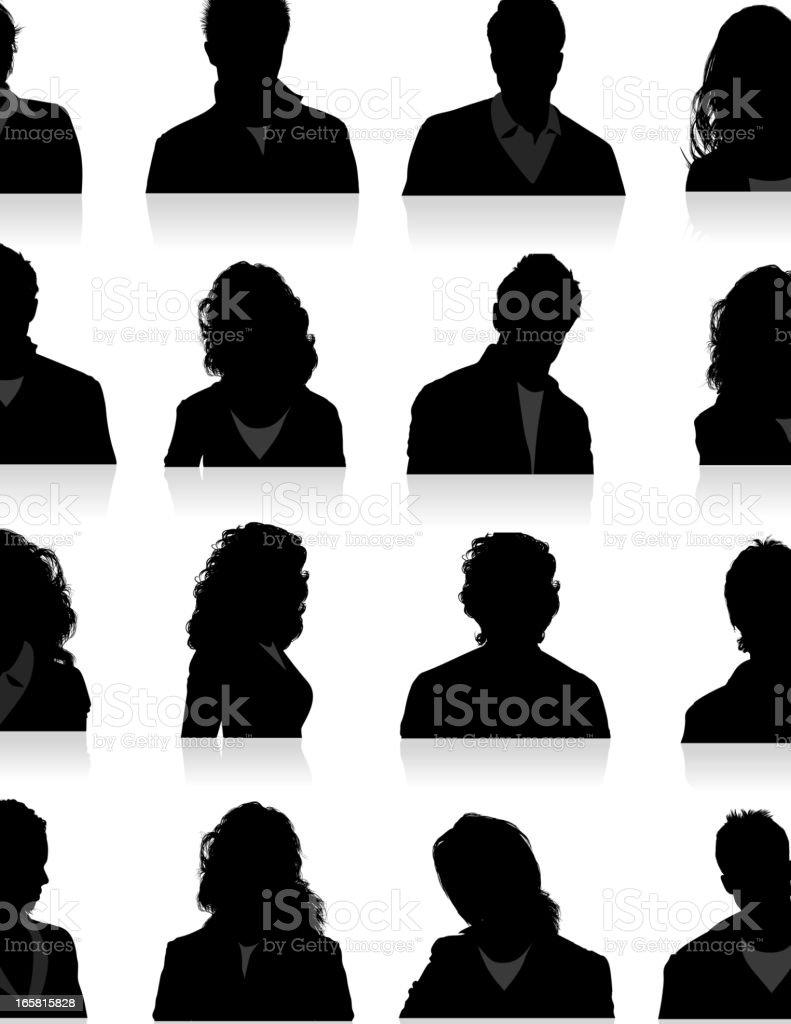Head Silhouette vector art illustration