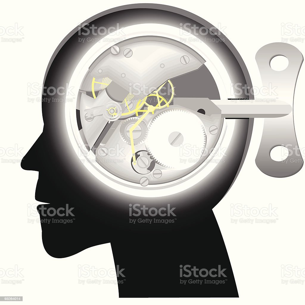 Head with the mechanism royalty-free stock vector art