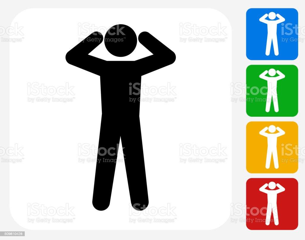 Headache Icon Flat Graphic Design vector art illustration