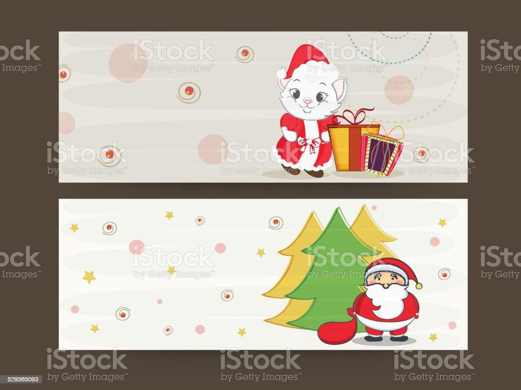 Header Or Banner For Merry Christmas Celebration stock vector art ...
