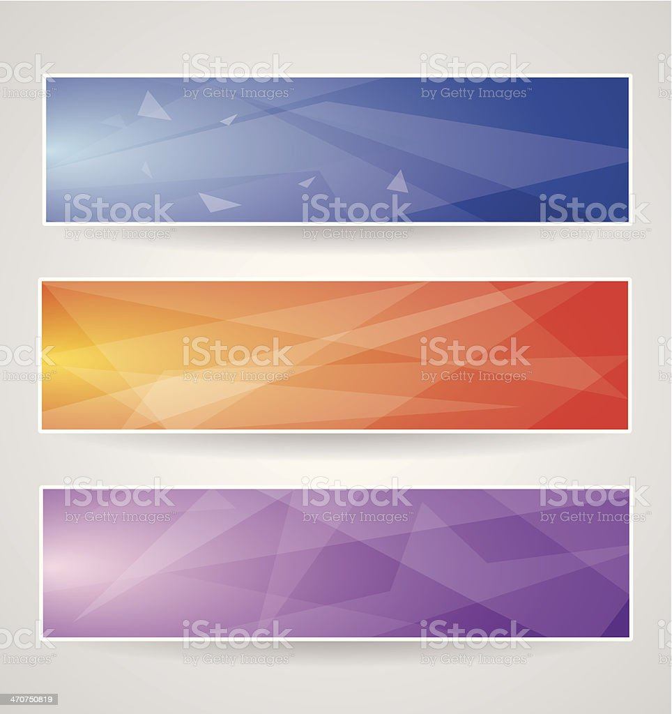 Header set 4 royalty-free stock vector art