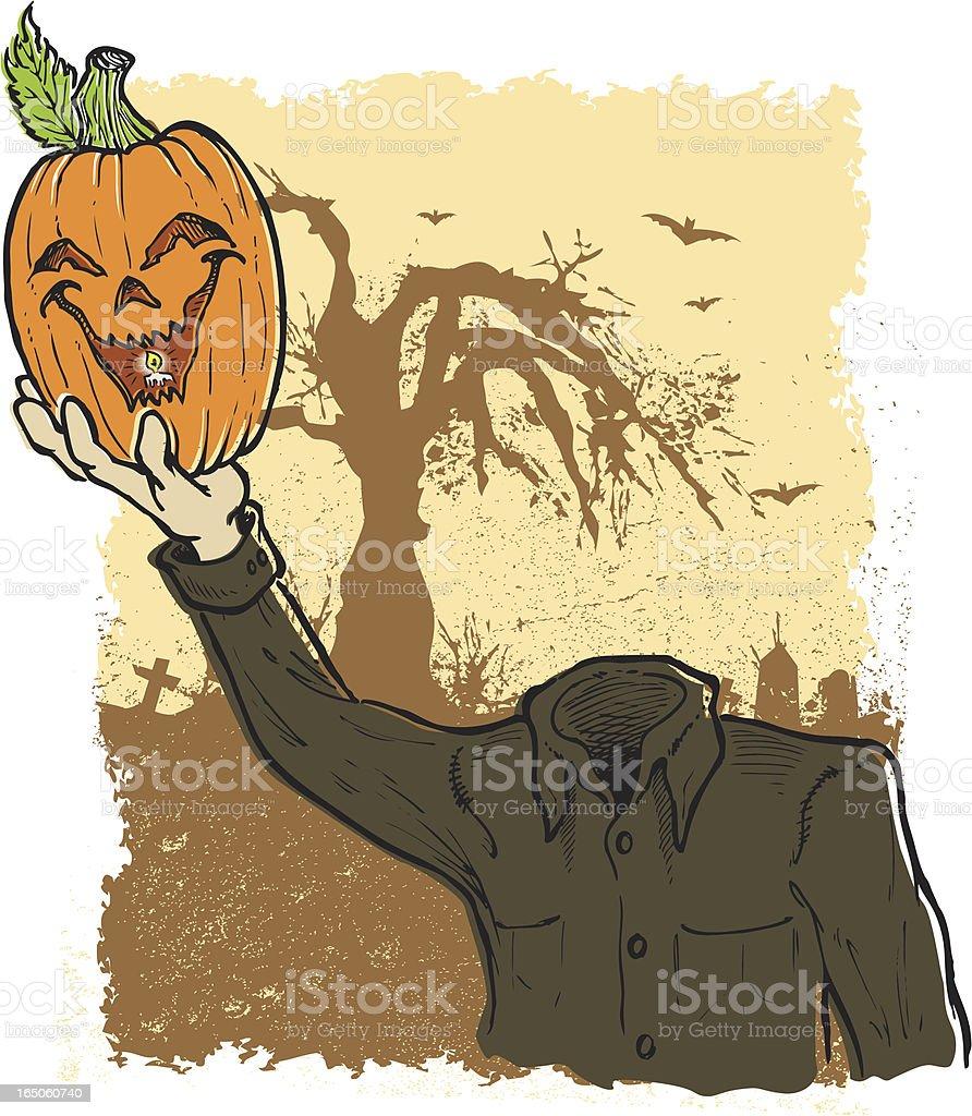 headless pumpkin man royalty-free stock vector art