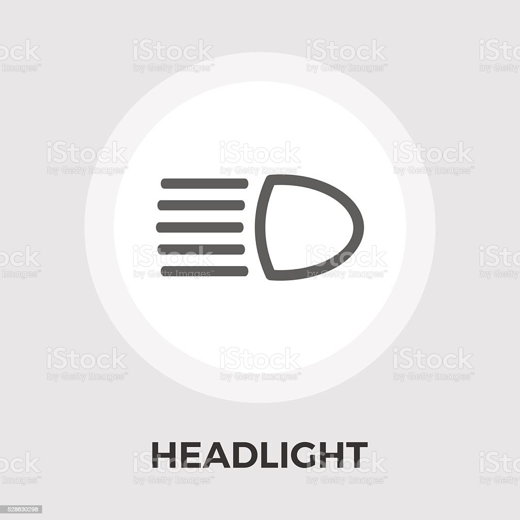 Headlight vector flat icon vector art illustration