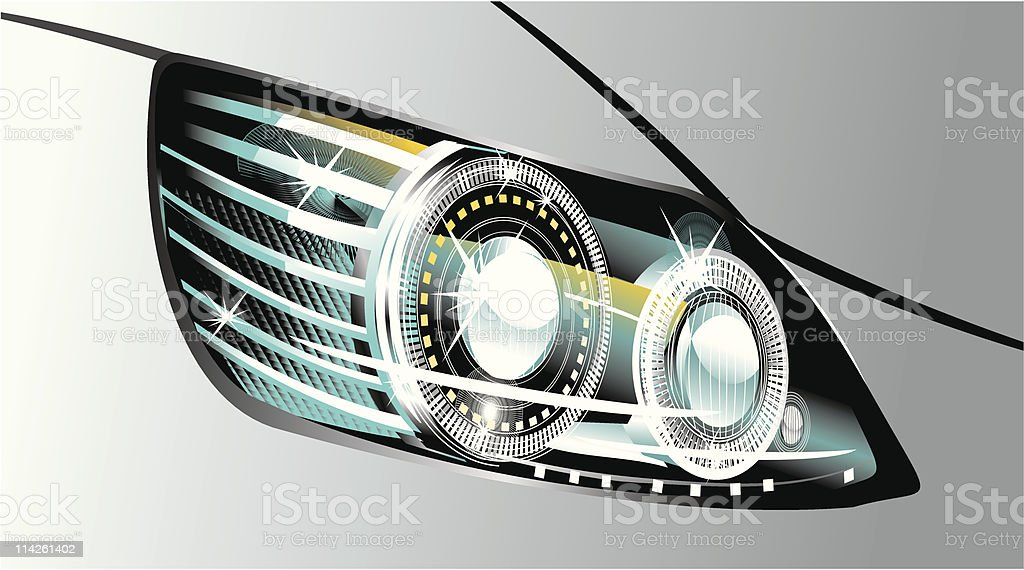 headlight vector art illustration