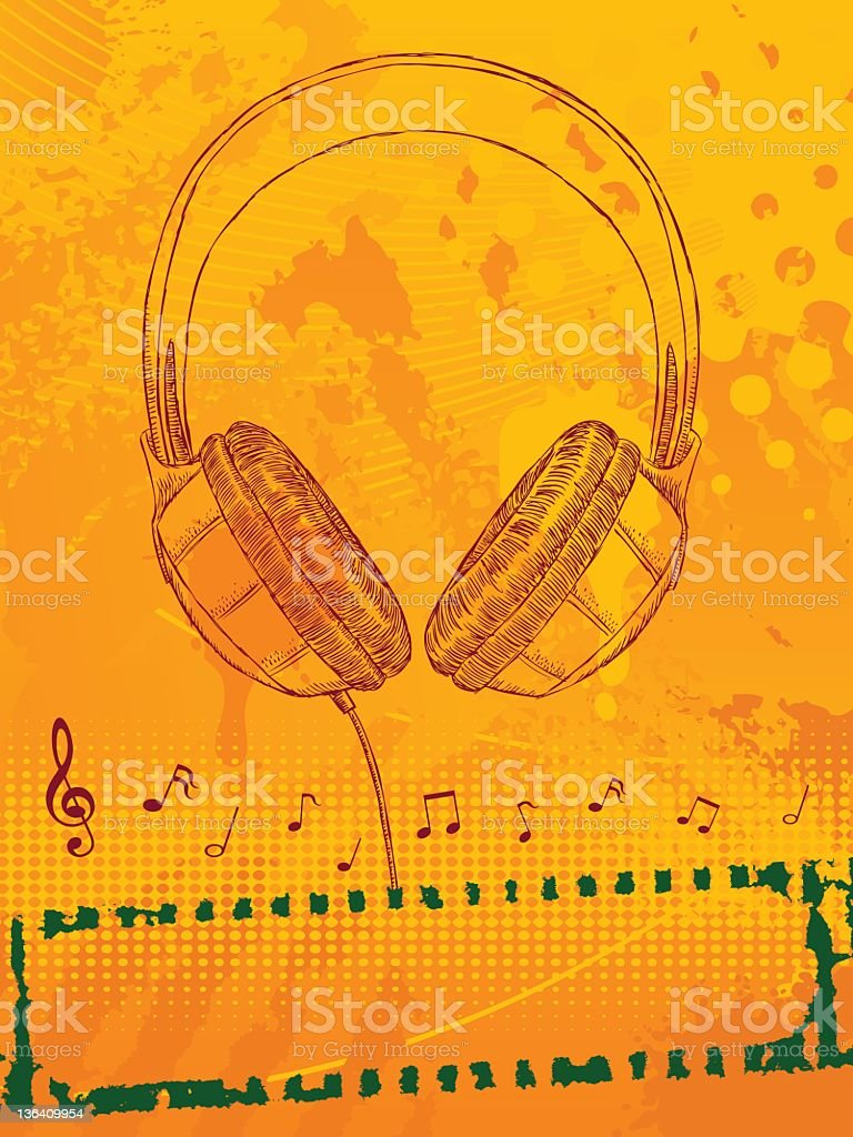 Headphone Background royalty-free stock vector art