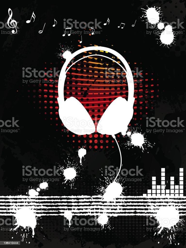 Headphone Background royalty-free stock vector art