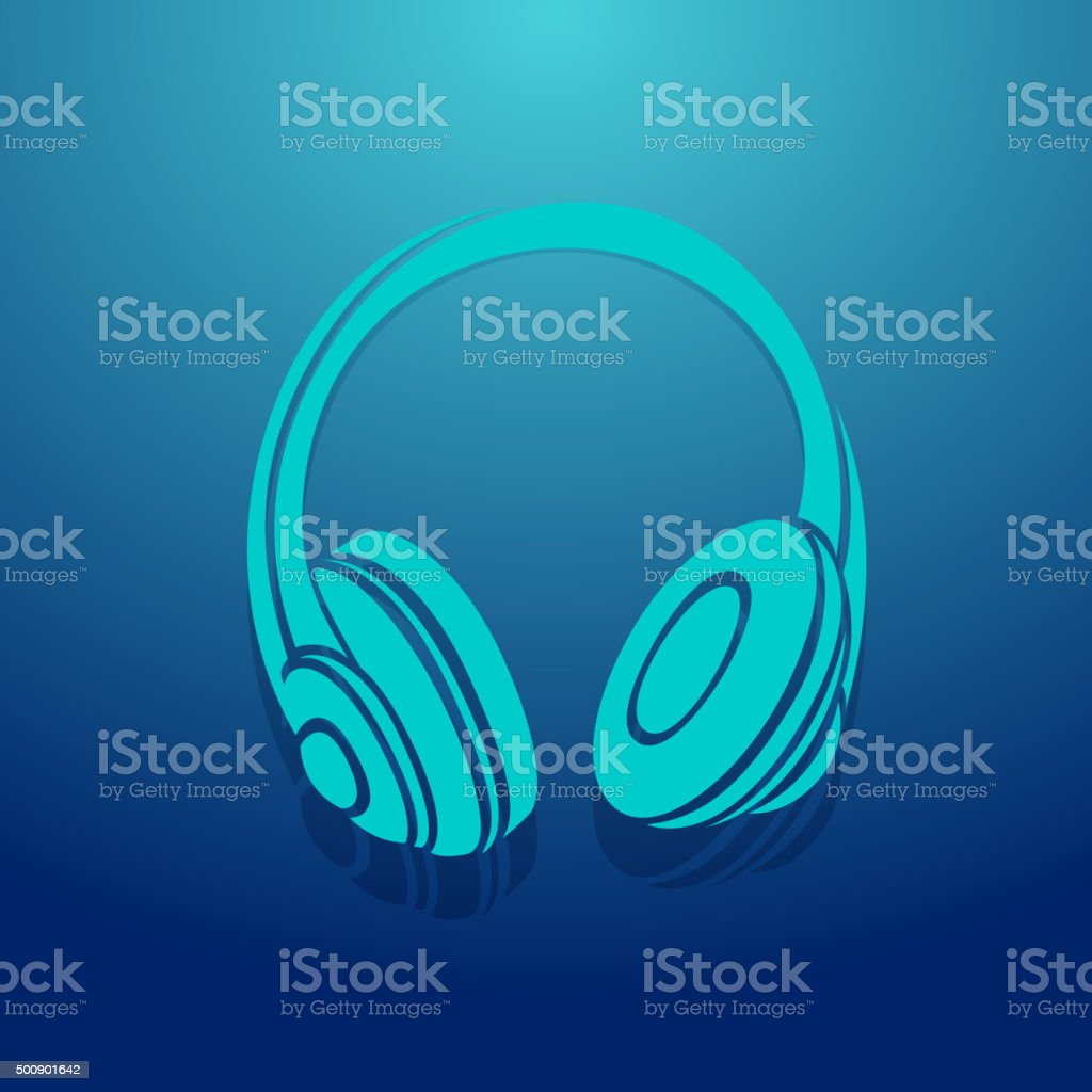 Headphone Icon vector art illustration
