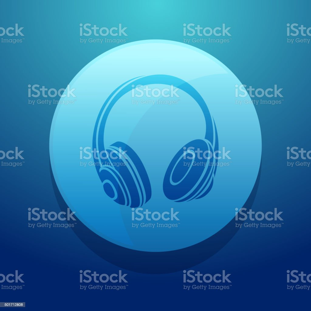 Headphone Icon vector art illustration