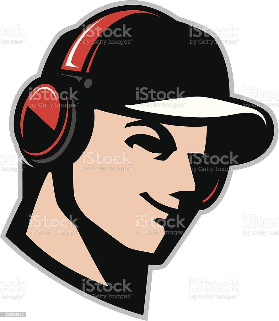 Headphone Man royalty-free stock vector art