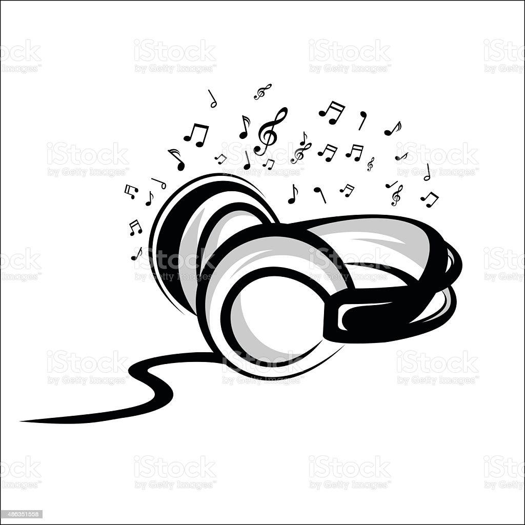 Headphone sketch royalty-free stock vector art