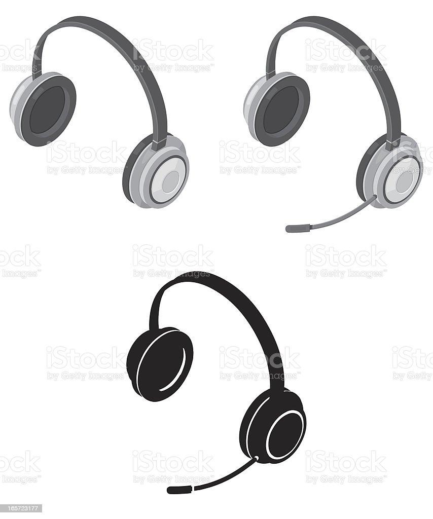 Headphones and Headset royalty-free stock vector art