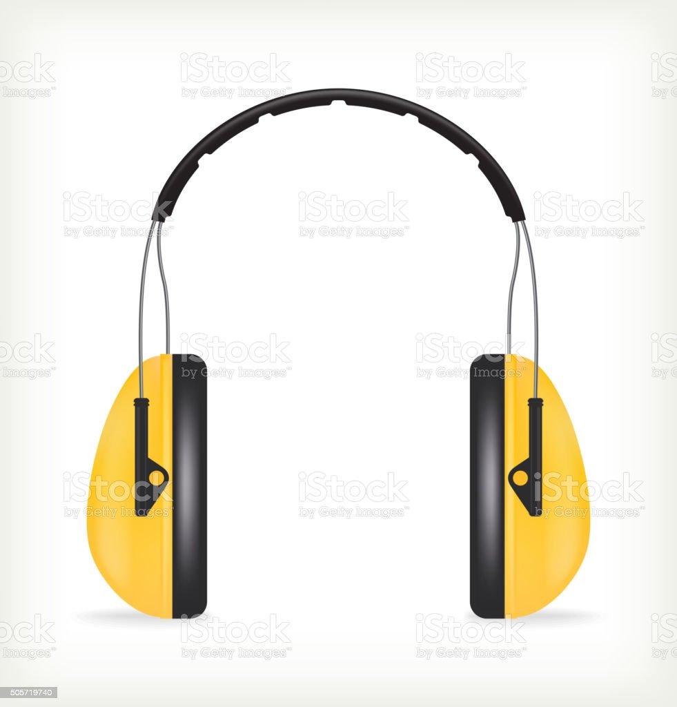 Headphones for ear protection vector art illustration