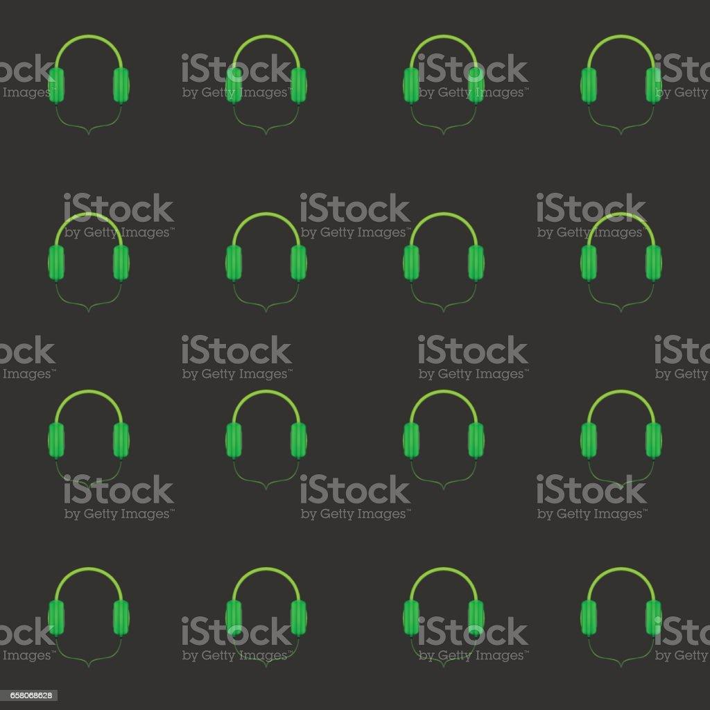 Headphones seamless pattern vector art illustration