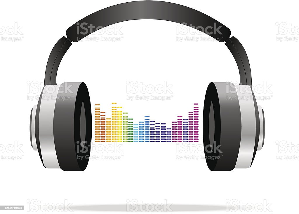 Headphones royalty-free stock vector art