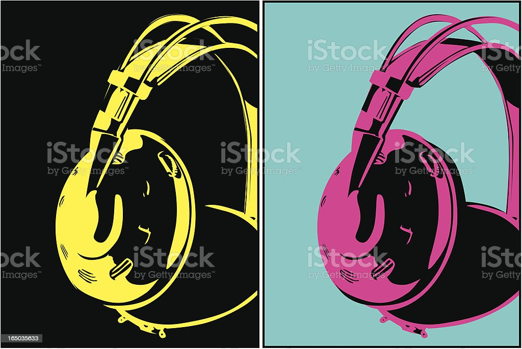 Headphones (Vecor) vector art illustration