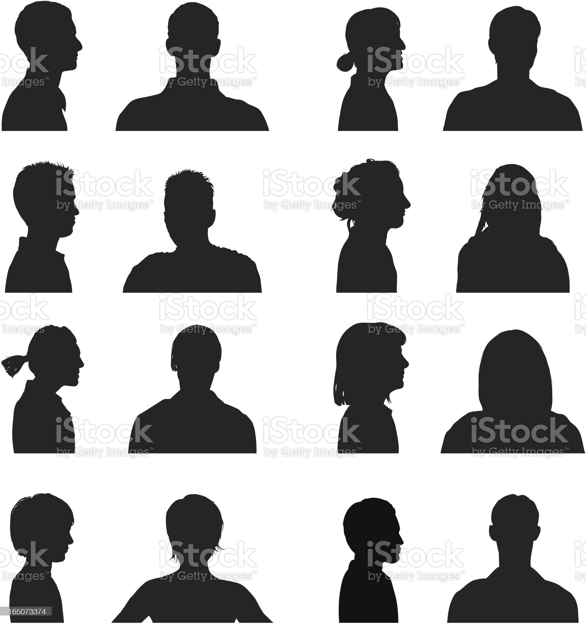 Heads and Shoulders royalty-free stock vector art